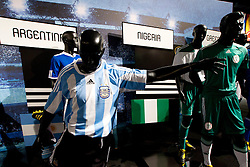 Argentina's, Nigeria's Teams jerseys at Adidas central for FIFA World Cup 2010 on June 30, 2010 at Nelson Mandela Square in Sandton Convention Centre in Johannesburg. (Photo by Vid Ponikvar / Sportida)