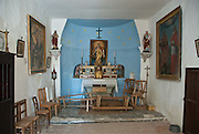 Interior of small chapel in rural Provence