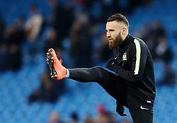 Nicolas Otamendi of Manchester City warms up  - Mandatory byline: Matt McNulty/JMP - 15/03/2016 - FOOTBALL - Etihad Stadium - Manchester, England - Manchester City v Dynamo Kyiv - Champions League - Round of 16