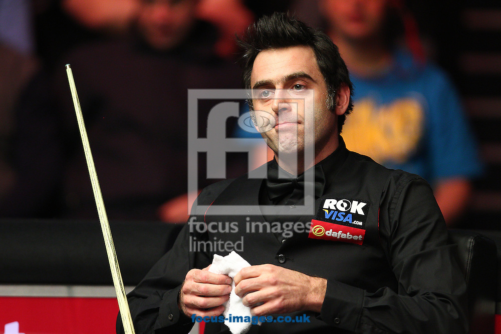 Picture by Paul Terry/Focus Images Ltd +44 7545 642257<br /> 19/01/2014<br /> Ronnie O'Sullivan looks on during The Masters final at Alexandra Palace, London.