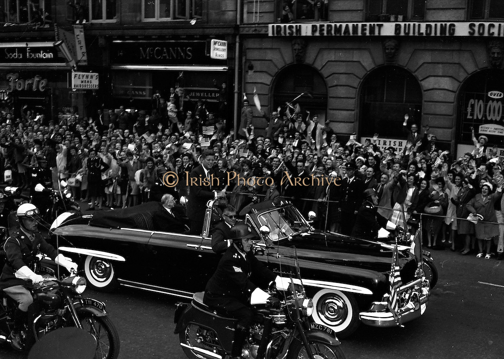 President Kennedy Parades though Dublin.26.06.1963