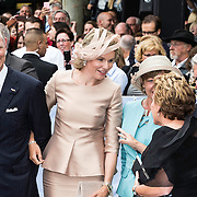 NLD/Maastricht/20140830 - Festivities on the occasion of the 200th jubilee of the Kingdom of the Netherlands in Maastricht - 200 Jaar Koninkrijk der Nederlanden, King Philippe en Queen Mathilde van België and German president Joachim Gauck en partner Daniela Schadt