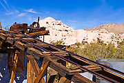 The ruins of the Wall Street Stamp Mill, Joshua Tree National Park, California