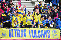 Supporters Clermont - 28.03.2015 - Stade Francais / Clermont - 21e journee Top 14<br /> Photo : Dave Winter / Icon Sport