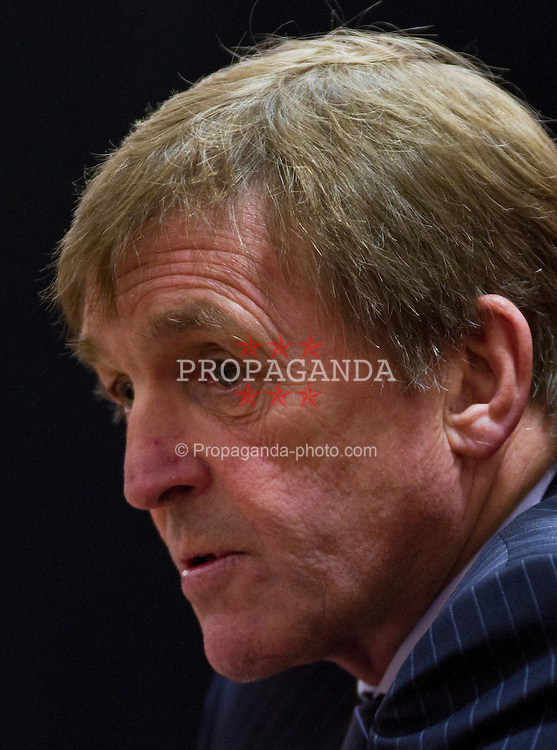 LIVERPOOL, ENGLAND - Thursday, February 3, 2011: Liverpool's manager Kenny Dalglish during a photo-call at Anfield (Photo by Vegard Grott/Propaganda).