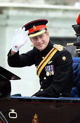 © Licensed to London News Pictures. 14/06/2014. London, UK Prince Harry, Trooping the Colour, Buckingham Palace, London UK, 14 June 2014. Photo credit : Mike Webster/PIQ/LNP