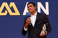 Ravichandran Ashwin of India receives the DILIP SARDESAI AWARD during the BCCI annual awards evening held at the Ritz Carlton Hotel in Bangalore, Karnartaka on the 8th March 2017. <br /> <br /> Photo by: Deepak Malik / BCCI/ SPORTZPICS