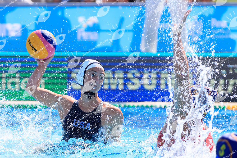 Madeline Musselman of United states of america <br /> USA (White cap) vs Spain (Blue Cap) Water Polo - Preliminary round<br /> Day 05 18/07/2017 <br /> XVII FINA World Championships Aquatics<br /> Alfred Hajos Complex Margaret Island  <br /> Budapest Hungary July 15th - 30th 2017 <br /> Photo @Marcelterbals/Deepbluemedia/Insidefoto