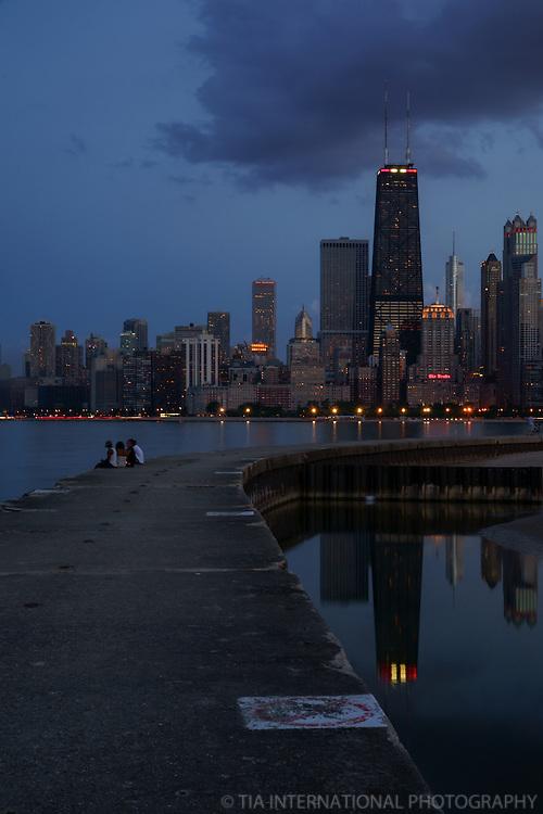 Chicago Skyline, North Avenue Beach (2)
