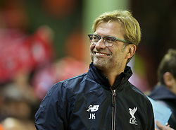 LIVERPOOL, ENGLAND - Wednesday, October 28, 2015: Liverpool's manager Jürgen Klopp before the Football League Cup 4th Round match against AFC Bournemouth at Anfield. (Pic by David Rawcliffe/Propaganda)