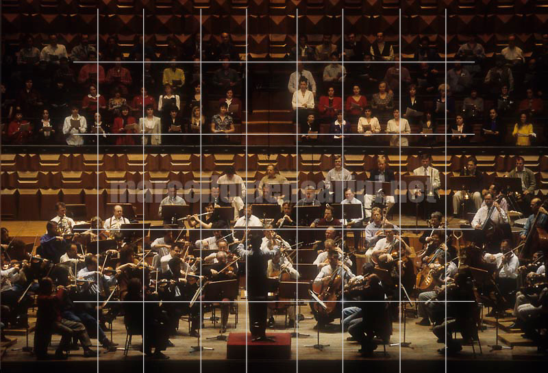 Claudio Abbado conducting the Berlin Philharmonic Orchestra at Auditorium Pio XII in Rome, 1996 / Claudio Abbado mentre dirige i Berliner Philharmoniker all'Auditorium Pio XII di Roma, 1996 - © Marcello Mencarini