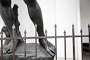 legs of a real size copy of David by Michelangelo Tokyo Japan