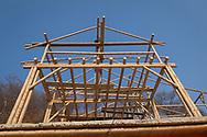 KOLUMBIEN - TAGANGA - Bambushaus auf der Baustelle von Hostel Casa Horizonte - 31. März 2014 © Raphael Hünerfauth - http://huenerfauth.ch