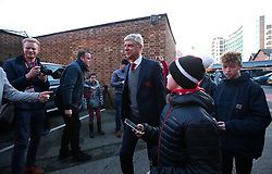 Arsenal manager Arsene Wenger arrives at The City Ground surrounded by fans ahead of the FA Cup Third Round tie with Nottingham Forest - Mandatory by-line: Robbie Stephenson/JMP - 07/01/2018 - FOOTBALL - The City Ground - Nottingham, England - Nottingham Forest v Arsenal - Emirates FA Cup third round proper