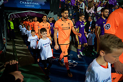 MARIBOR, SLOVENIA - Tuesday, October 17, 2017: Liverpool's Emre Can walks out with his team before the UEFA Champions League Group E match between NK Maribor and Liverpool at the Stadion Ljudski vrt. (Pic by David Rawcliffe/Propaganda)
