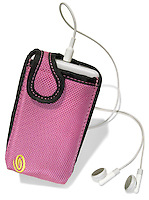 hot pink nylon ipod case