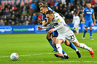 Football - 2018 / 2019 Sky Bet EFL Championship - Swansea City vs. Bolton Wanderers<br /> <br /> Connor Roberts of Swansea City & Gary O'Neil of Bolton Wanderers, at The Liberty Stadium.<br /> <br /> COLORSPORT/WINSTON BYNORTH