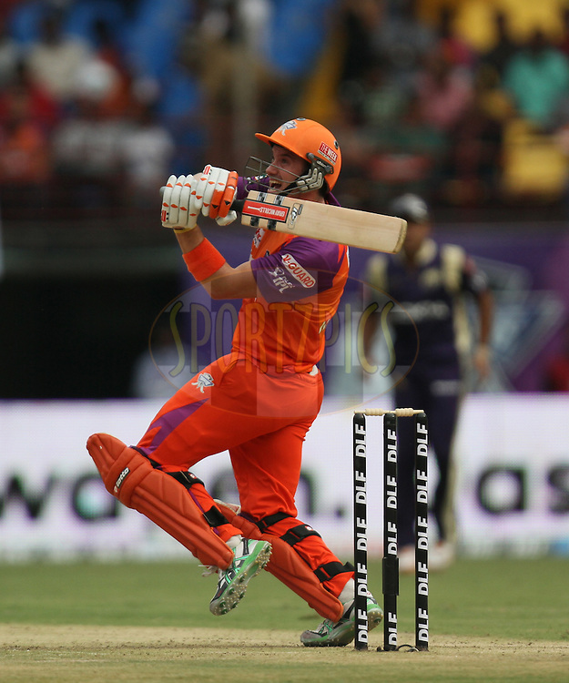 Michael Klinger of Kochi Tuskers Kerala plays a shot during match 45 of the Indian Premier League ( IPL ) Season 4 between the Kochi Tuskers Kerala and the Kolkata Knight Riders held at the Kallor Jawaharlal Nehru International Stadium in Kochi, Kerala  India on the 5th May  2011...Photo by Parth Sanyal/BCCI/SPORTZPICS