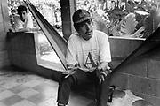 President of the community of Nueva Esperanza, El Salvador, 1999.