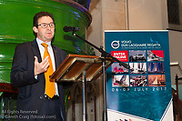(l to r) David Thomas (Managing Director, Volvo Cars Ireland) addressing the official launch of Volvo Dún Laoghaire Regatta 2017 in the National Maritime Museum of Ireland on Wednesday evening. The Regatta will be among the biggest mass-participatory sporting event in Ireland this year (eclipsed for numbers only by the city marathons).