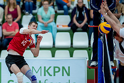 23-05-2017 NED: 2018 FIVB Volleyball World Championship qualification, Koog aan de Zaan<br /> Moldavi&euml; - Griekenland / Dmitrii Bahov #16