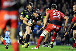 Henry Thomas of Bath Rugby takes on the Toulon defence - Mandatory byline: Patrick Khachfe/JMP - 07966 386802 - 10/01/2016 - RUGBY UNION - Stade Mayol - Toulon, France - RC Toulon v Bath Rugby - European Rugby Champions Cup.