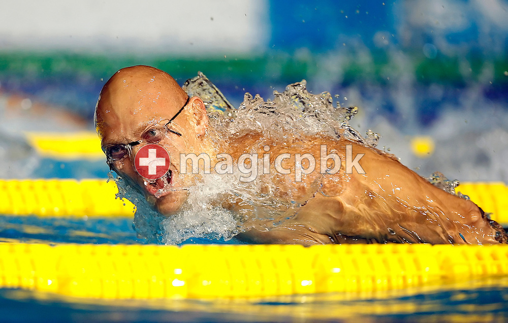 Michael KLIM of Australia competes on the butterfly leg in the Men's 4 x 100m Medley Relay heats in the Susie O'Neill pool at the FINA Swimming World Championships in Melbourne, Australia, Sunday 1 April 2007. (Photo by Patrick B. Kraemer / MAGICPBK)