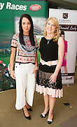 At the launch of The Galway Races summer festival 2015 were Kilkenny' Group's Laura Toner and Universtiy's Pharmacy's Audrey Kinahan . The launch was held at the Radisson blu Galway  .Photo:Andrew Downes:XPOSURE