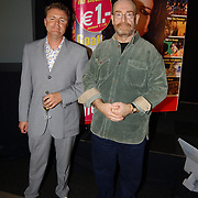 Presentatie nieuw programmablad TV Film, Rene Mioch en Jacques Goderie