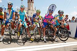 Jani Brajkovic of Astana, Kristjan Koren of Liquias, Bole Grega of Lampre-ISD and Borut Bozic of Astana during Slovenian National Championship Mirna Pec 2012, on June 24, 2012, in Mirna Pec, Slovenia. (Photo by Urban Urbanc / Sportida.com)