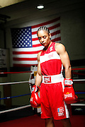 6/24/11 2:51:35 PM -- Colorado Springs, CO. -- A portrait of U.S. Olympic lightweight boxer Queen Underwood, 27, of Seattle, Wash. who will be competing for her fifth title. She began boxing in 2003 and was the 2009 Continental Champion and the 2010 USA Boxing National Champion. She is considered a likely favorite to medal at the 2012 Summer Olympics in London as women's boxing makes its debut as an Olympic sport. -- ...Photo by Marc Piscotty, Freelance.