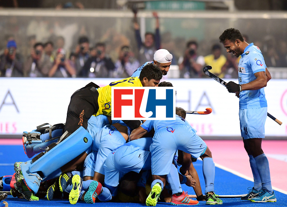 Odisha Men's Hockey World League Final Bhubaneswar 2017<br /> Match id:13<br /> Belgium v India<br /> Foto: Shoot Out<br /> India wins the Shoot Out<br /> COPYRIGHT WORLDSPORTPICS FRANK UIJLENBROEK