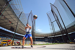 Juan Ignacio Cerra of Argentina competes in the men's Hammer Throw qualifying event of the 2009 IAAF Athletics World Championships on August 15, 2009 in Berlin, Germany. (Photo by Vid Ponikvar / Sportida)