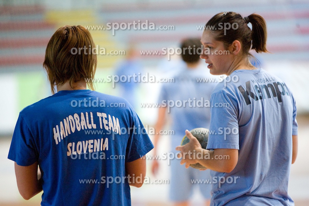 Dolores Naglic at practice of Slovenian Handball Women National Team, on June 3, 2009, in Arena Kodeljevo, Ljubljana, Slovenia. (Photo by Vid Ponikvar / Sportida)