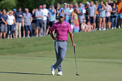 September 1, 2018 - Norton, Massachusetts, United States - Tiger Woods waits to putt the 10th green during the second round of the Dell Technologies Championship. (Credit Image: © Debby Wong/ZUMA Wire)