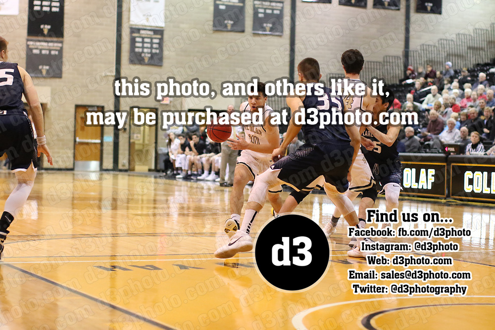 St. Olaf vs Carleton Men's Basketball. Jeff Lawler, d3photography.com