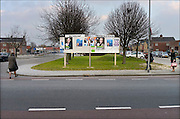 Nederland, Urk, 19-2-2015 Verkiezingsbord met affiches voor de komende verkiezingen voor de provinciale staten en het waterschap. Netherlands, election board with posters for the forthcoming elections. Foto: Flip Franssen/Hollandse Hoogte