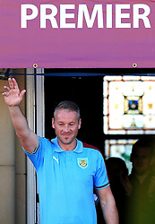 Burnley's Paul Robinson waves to the crowd - Mandatory by-line: Matt McNulty/JMP - 09/05/2016 - FOOTBALL - Burnley Town Hall - Burnley, England - Burnley FC Championship Trophy Presentation