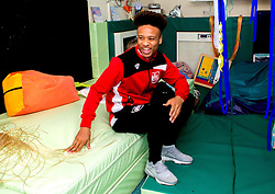 Bobby Reid of Bristol City smiles during Bristol City's visit to the Children's Hospice South West at Charlton Farm - Mandatory by-line: Robbie Stephenson/JMP - 21/12/2016 - FOOTBALL - Children's Hospice South West - Bristol , England - Bristol City Children's Hospice Visit