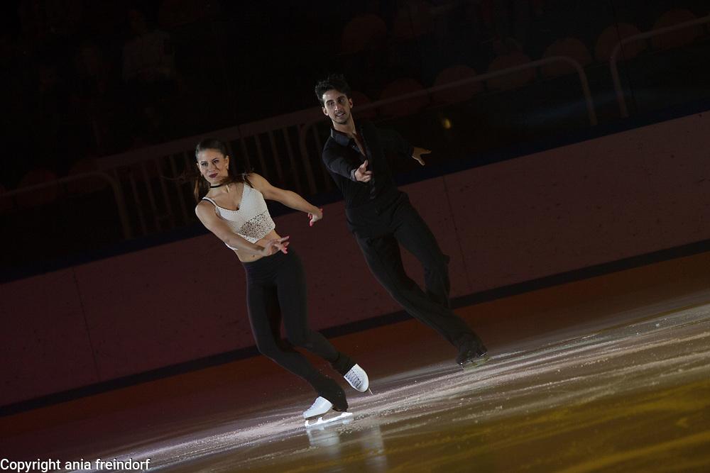 International Ice Skating Gala, Courchevel, France, 20 July 2017, Jasmine Tessari, Francesco Fioretti, Members of National Team, Italy, 3rd Champion of Italy Seniors,