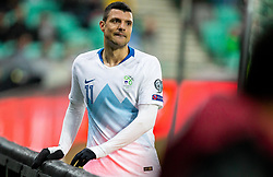 Haris Vuckic  of Slovenia during the 2020 UEFA European Championships group G qualifying match between Slovenia and Latvia at SRC Stozice on November 19, 2019 in Ljubljana, Slovenia. Photo by Vid Ponikvar / Sportida