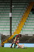 MFC Division 5 Final at Pairc Tailteann, Navan, Nobber vs Blackwater Gaels, 26th October 2014<br /> Blackwater Gaels players Alex Carry &amp; Kieran Needle dejected after the Division 5 final defeat to Nobber<br /> Photo: David Mullen / www.cyberimages.net &copy; 2014