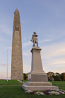 Bennington Battle Monument and statue of Seth Warner, Bennington, Vermont