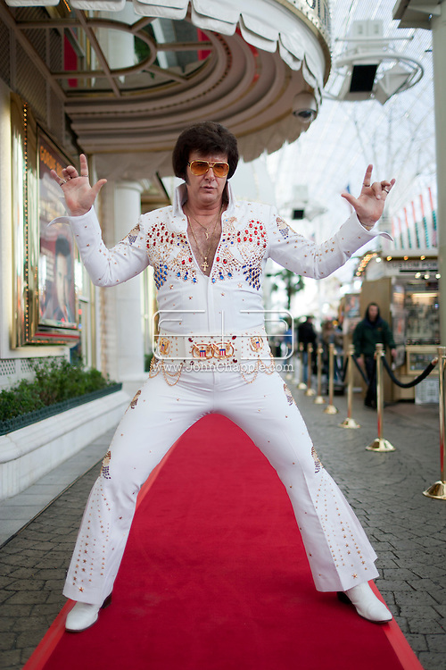 February 20th, 2012, Las Vegas, Nevada. The 21st Annual Reel Awards in Las Vegas where celebrity lookalikes show off their talents. Pictured is Jeff Stanulis as Elvis..PHOTO © JOHN CHAPPLE / www.johnchapple.com.