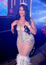 Natalie Nunn enters the house during the Celebrity Big Brother Launch Night at Elstree Studios, Hertfordshire.