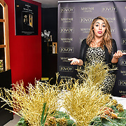 Shadia Daho attends Jovoy, Luxury Perfumery in Mayfair to launch world renowned floral artist Fabienne Egger Luxury Wreath making workshops across the UK at Jovoy Mayfair on 7 November 2019, London, UK.