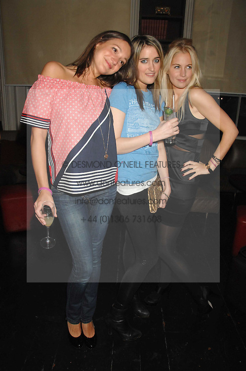 Left to right, GEORGIE LANGTON,  VIOLET VON WESTENHOLTZ and MARISSA MONTGOMERY at a leaving party for Poppy Delevigne who is going to New York to persue a career as an actress, held at Chloe, Cromwell Road, London on 25th January 2007.<br /><br />NON EXCLUSIVE - WORLD RIGHTS