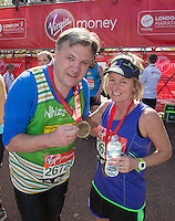 The Rt Hon Ed Balls MP, Shadow Chacellor of the Exchequor at the end of the Virgin Money London Marathon 2014 on Sunday 13 April 2014<br /> Photo: Roger Allan/Virgin Money London Marathon<br /> media@london-marathon.co.uk