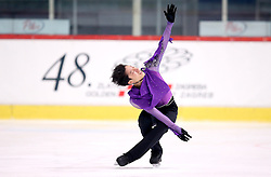 03.12.2015, Dom Sportova, Zagreb, CRO, ISU, Golden Spin of Zagreb, Kurzprogramm Herren, im Bild Leung Kwun Hung, Hong Kong // during the 48th Golden Spin of Zagreb 2015 Male Short Program of ISU at the Dom Sportova in Zagreb, Croatia on 2015/12/03. EXPA Pictures © 2015, PhotoCredit: EXPA/ Pixsell/ Slavko Midzor<br /> <br /> *****ATTENTION - for AUT, SLO, SUI, SWE, ITA, FRA only*****