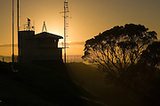sunrise over the bunker on mt victoria, at devonport, auckland